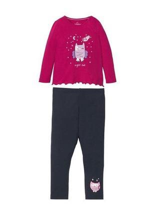 Костюм, комплект одежда для дома, пижама lupilu. германия. 98-104, 110-116