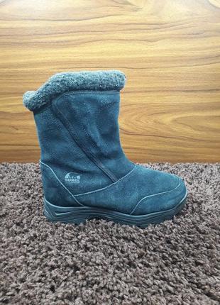Замшеві жіночі зимові ботинки сапоги sorel женские