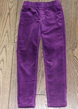 Новые джинсы-джеггинсы  gymboree для девочки красивого фиолетового цвета,р.5-6 лет