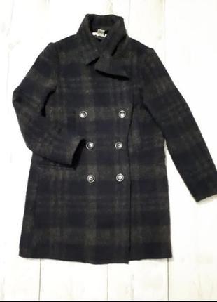 Пальто/пиджак длинный в крупную клетку