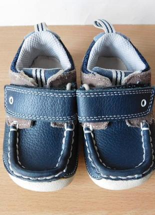Кожаные кроссовки, мокасины clarks 19р. стелька 12 см