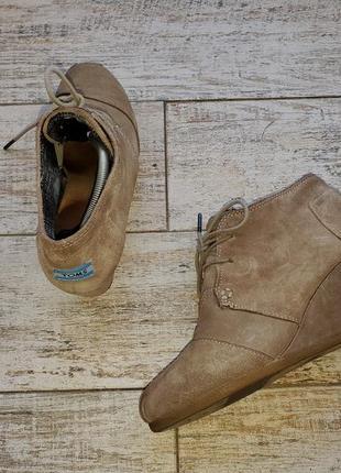Замшевые ботиночки сапожки на танкетке toms 380513 р.9