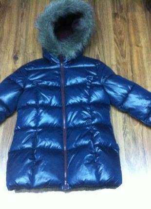 Зимняя куртка супер тёплая оригинал sisley