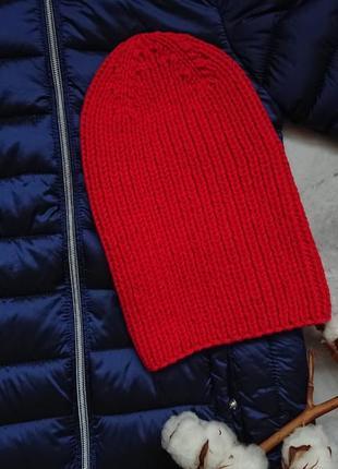 Стильная шапка бини тыковка шапочка для мальчика