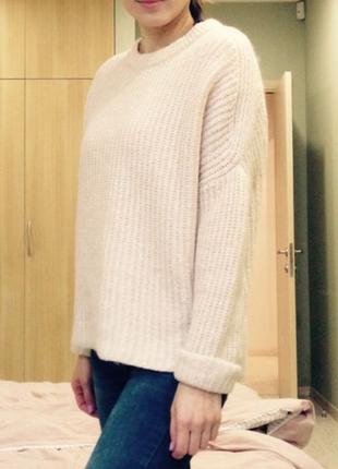 Теплый свитер zara- m