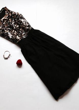 Пышное платье в пайетки