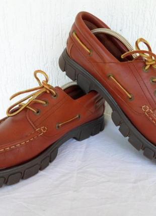 Кожанние туфли-топсайдери pine ridge р.42