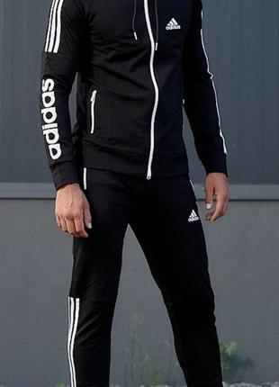 Мужской трикотажный спортивный костюм adidas.в наличии.много цветов.желтый,красный,синий