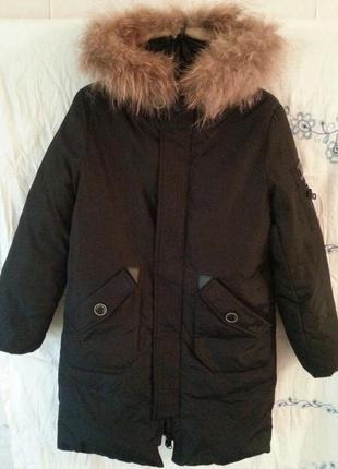 Зимняя болоньевая куртка на мальчикат the north face