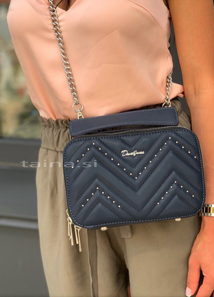 Клатч david jones cm5416t d. blue темный синий оригинал кросс боди сумка