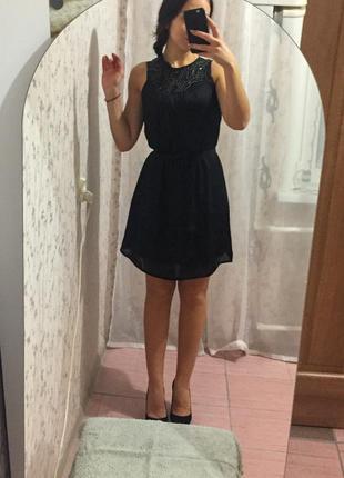 Шифоновое коктейльное платье