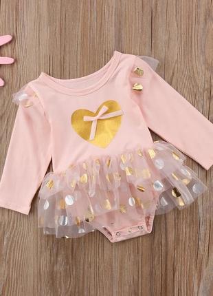 Детское платье - боди для девочки одежда новорождённых