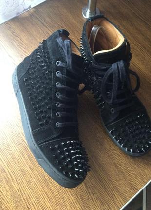 Рр 41-27 см дизайнерские кроссовки ботинки с шипами christian louboutin