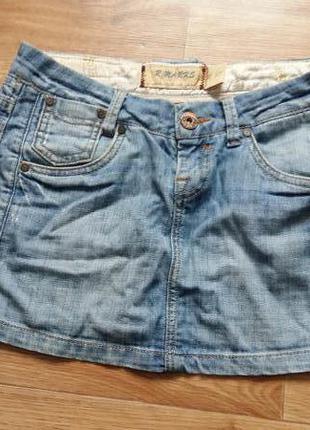 Коротенькая джинсовая юбка r.marks jeans