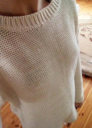 Крутой свитер средняя вязка