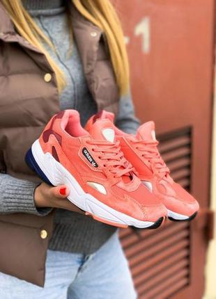 Adidas falcone женские спортивные кроссовки адидас коралловый цвет (весна-лето-осень)😍