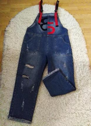 Крутой джинсовый комбез