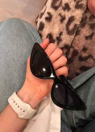 Солнцезащитные очки кошачьи глазки