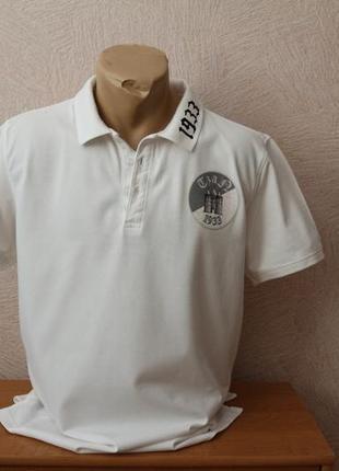 L-clique - стильное белое поло тенниска в идеале
