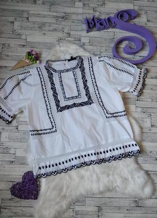Блуза вышитая вышиванка topshop женская