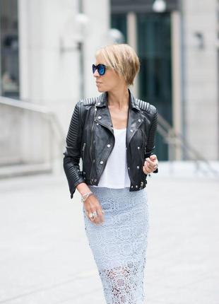 Очень стильная кружевная мили юбка