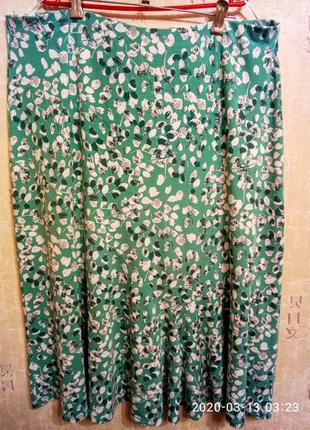 Батал! красивая  элегантная летняя юбка на 58-62 р. украин. m&s, турция
