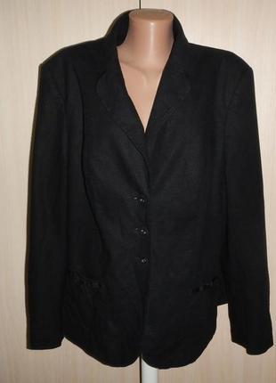 Льняной пиджак marks&spencer р.22