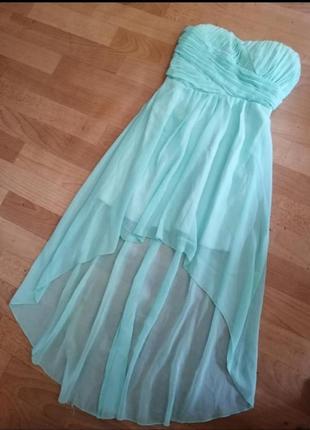 Бирюзовое платье, р с - м