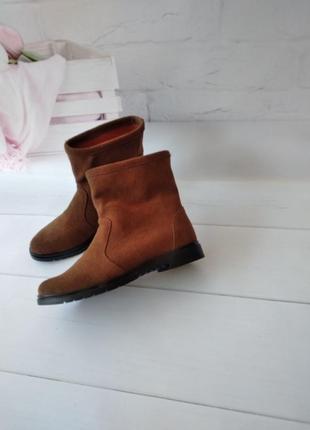Замшевые ботинки сапоги