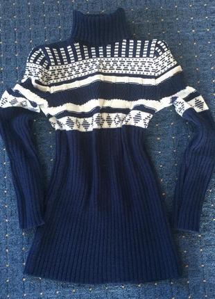 Тёплый свитер туника