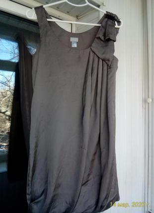 Шелковое платье н&м