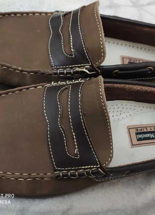 Новые кожаные туфли luca mancini 27.5 см 43 размер италия