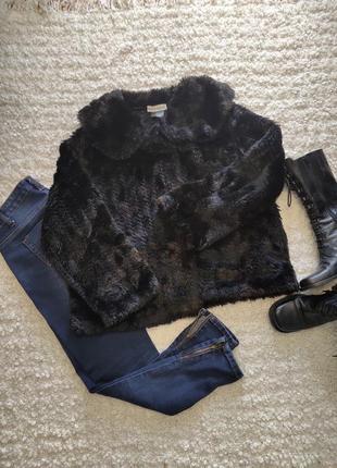 Шикарное демисезонное пальто- шубка
