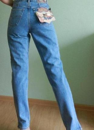 Плотные коттоновые джинсы высокая посадка италия