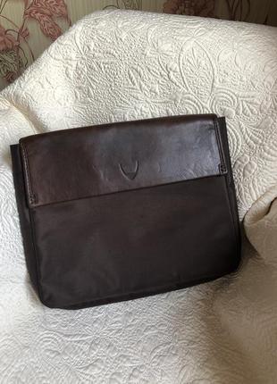 Деловая сумка папка кейс органайзер, натуральная кожа, для ноутбука и документов hidesign