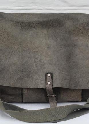 Большая сумка из натуральной кожи pepe jeans london