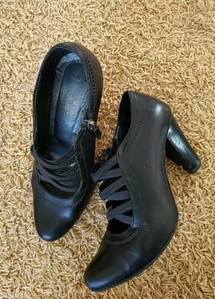 Туфлі жіночі, шкіряні