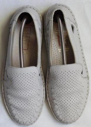Летние кожаные туфли, мокасины john 39-40