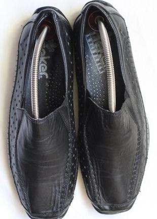 Кожаные туфли, мокасины rieker 41 разм