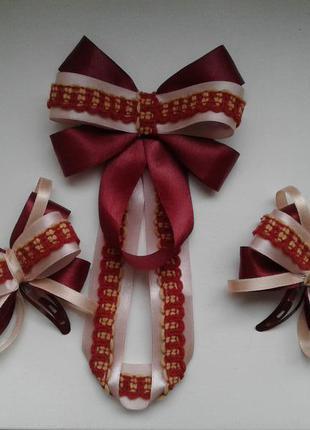 Наборчик галстук и бантики, канзаши