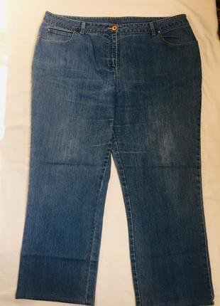 Супер джинсы жен с потертостью батал раз 5xl(58)