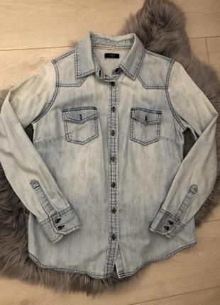 Джинсовая рубашка от f&f