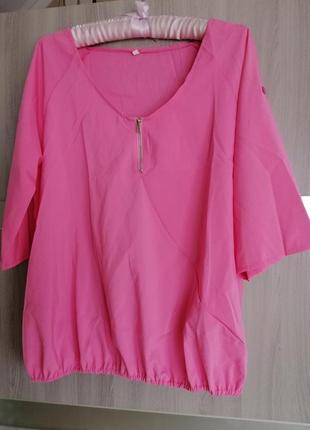 Блузка рубашка низ на ризинке, рукав регулируется.