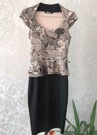 Платье с баской англия bloose