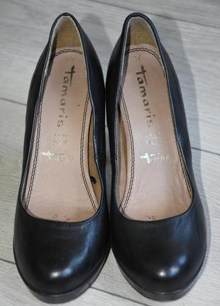 Кожаные туфли tamaris 37 размер тамарис оригинал