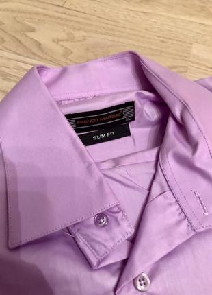 Фиолетовая рубашка слим