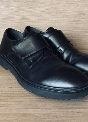 Мужские туфли, монки из натуральной кожи