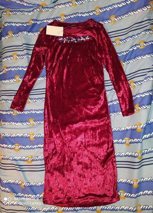 Плаття із велюру