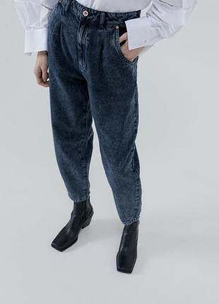 Потертые трендовые джинсы slouchy zara