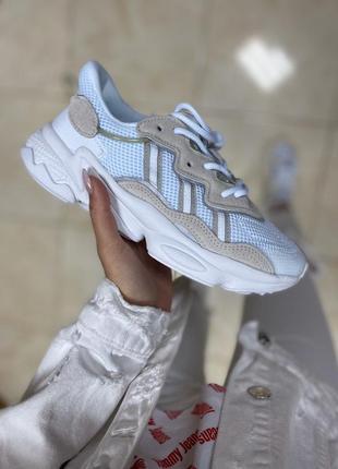 Adidas  ozweego white/blue 🔺 женские кроссовки адидас озвего белый/голубой